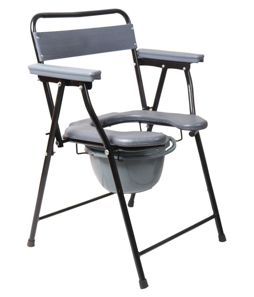medibox India Commode Chair With Strip Backrest 4 g