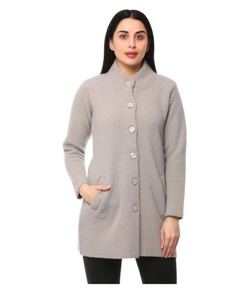 Glamaze Acrylic Grey Buttoned Cardigans
