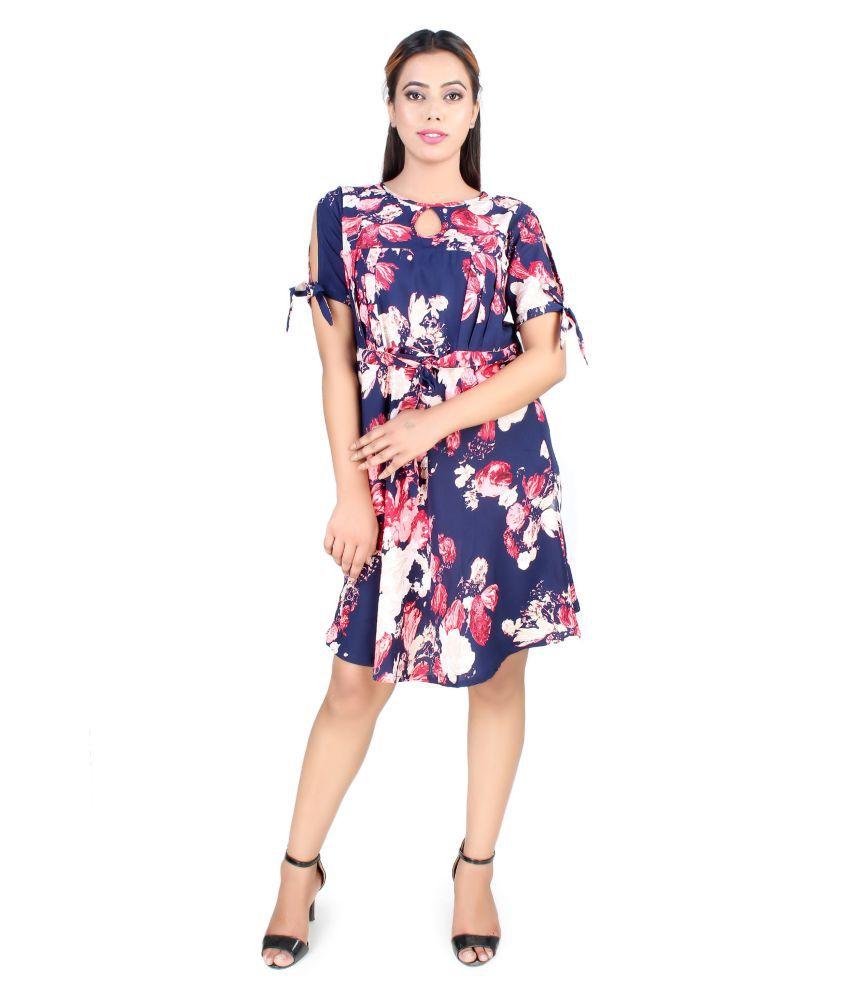 SAWARIYA-G Crepe Multi Color Regular Dress