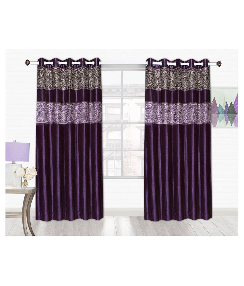 Tanyugg Single Window Blackout Room Darkening Eyelet Polyester Curtains Magenta