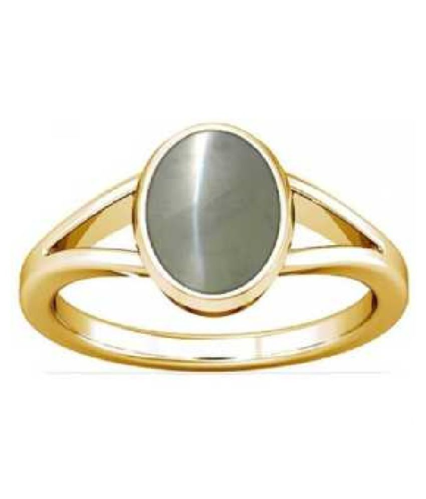 6 ratti stone pure Cat's Eye Stone Gold Plated Ring for unisex by  Ratan Bazaar\n