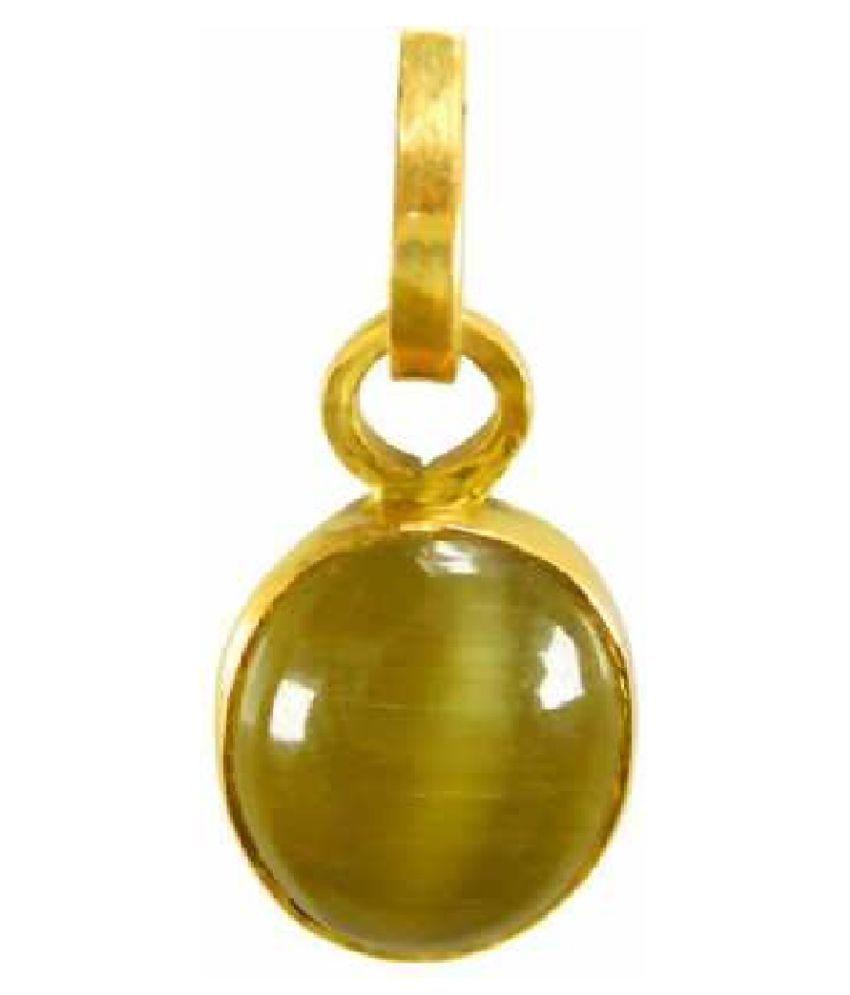 7.5 Carats Cat's Eye Pendant / Locket Cat's Eye Stone Pendant by Kundli Gems