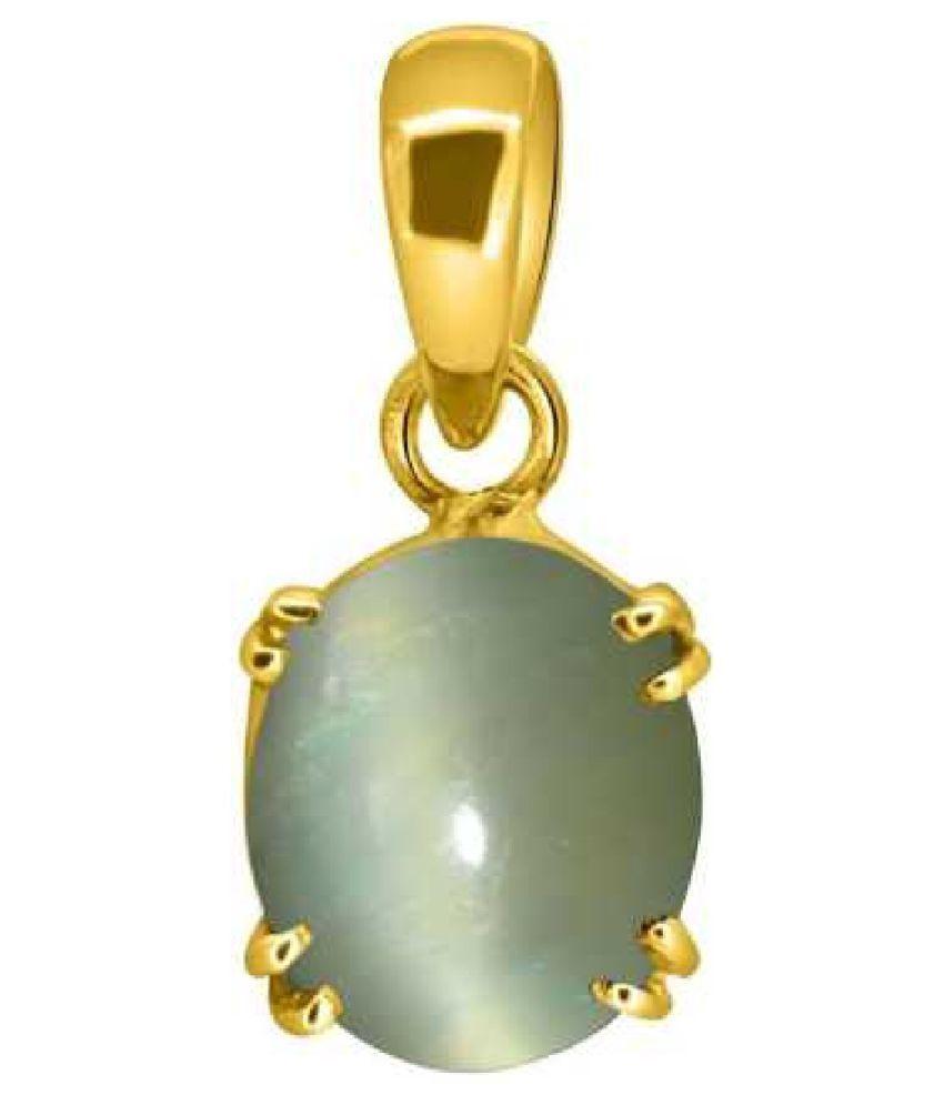 8.25 Carats Cat's Eye Pendant / Locket Cat's Eye Stone Pendant by Kundli Gems
