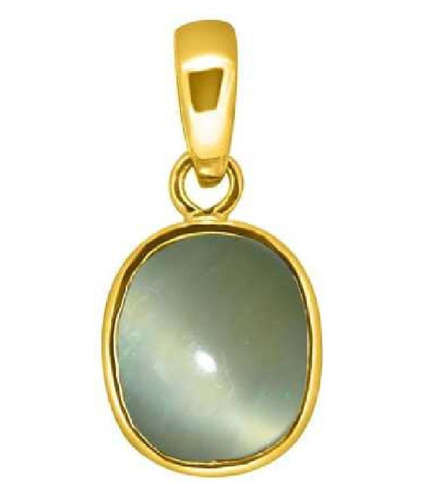 9.5 Carats Cat's Eye Pendant / Locket Cat's Eye Stone Pendant by Kundli Gems