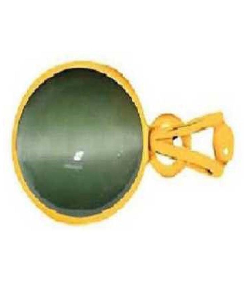 Kundli Gems - 9.5 carat Cats eye Stone Pendant Natural Cats Eye stone Certified & Astrological purpose for men & women Gold-plated Cat's Eye Stone Pendant