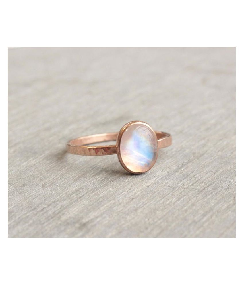 10.5 Carat Lab Certified  Gold Plated MOONSTONE   Ringfor unisex by Kundli Gems