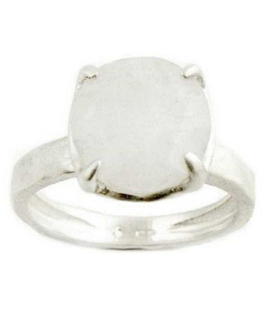 9.5 ratti silver  MOONSTONE  Ring for unisex by Kundli Gems\n
