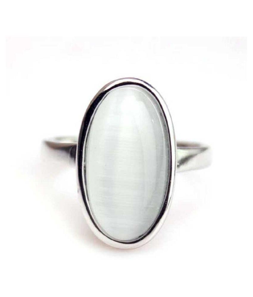 MOONSTONE  Ring 11.5 Ratti  Original Silver MOONSTONE  Stone by  Kundli Gems