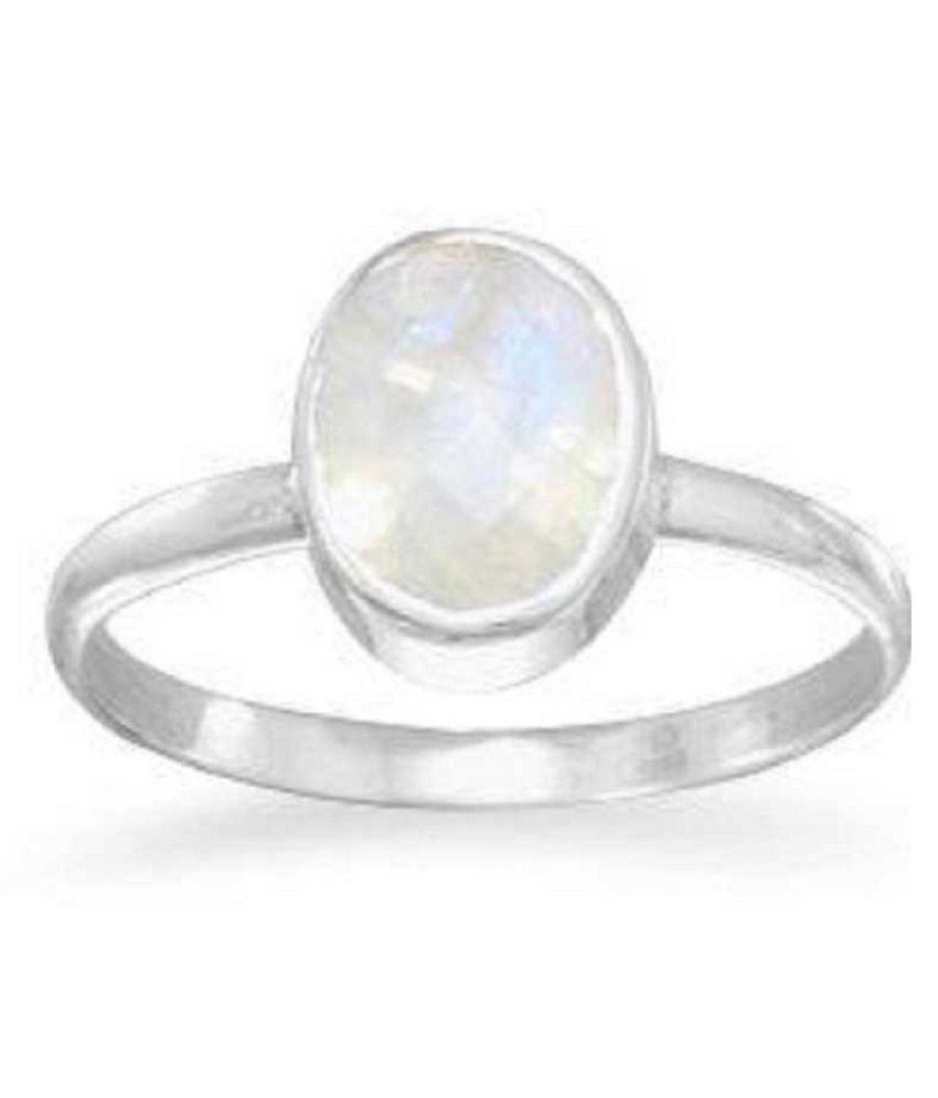 Natural MOONSTONE  11.25 Carat silver Ring  by  Kundli Gems\n