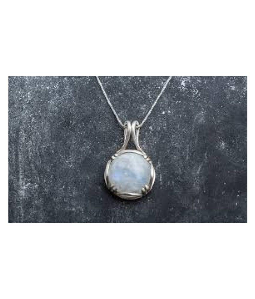10 Ratti silver Original MOONSTONE  Pendant Lab Certified Stone by Kundli Gems\n
