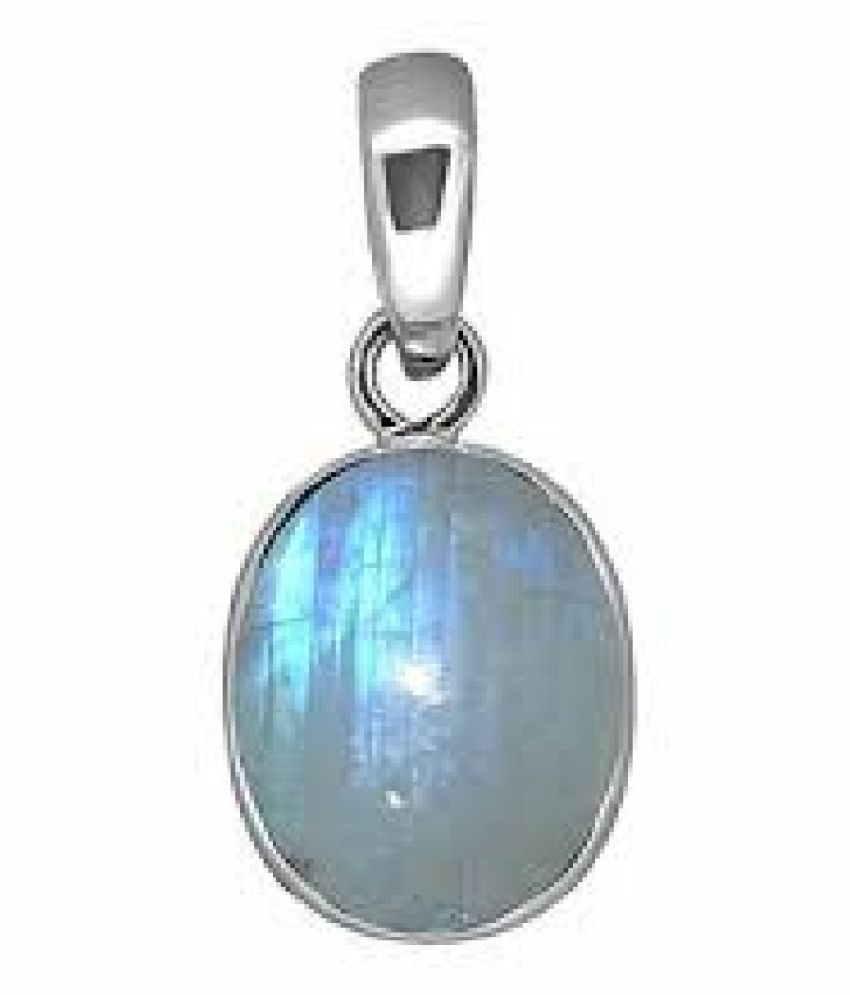 7.5 Ratti MOONSTONE  Pendant with Natural silver MOONSTONE  Stone by Kundli Gems