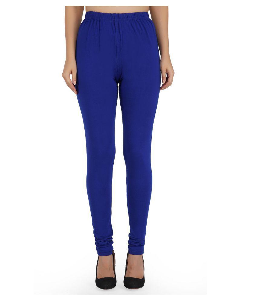 Girly Girls Cotton Jeggings - Blue
