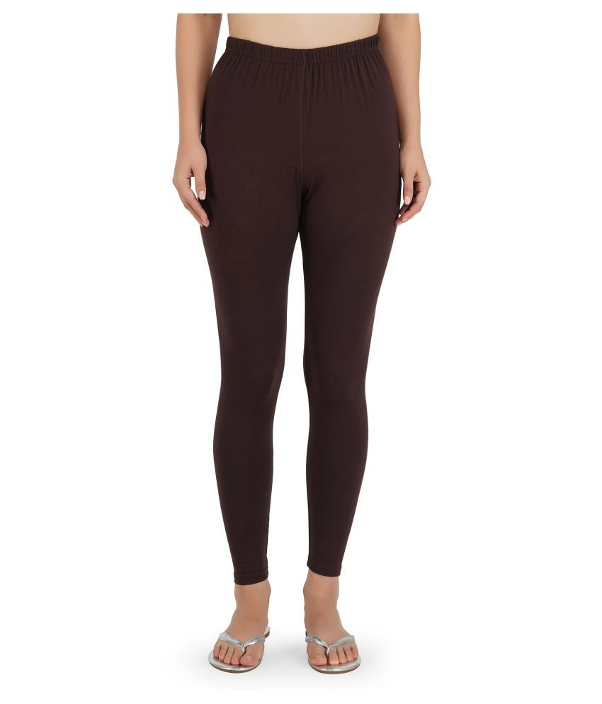 Girly Girls Cotton Jeggings - Brown