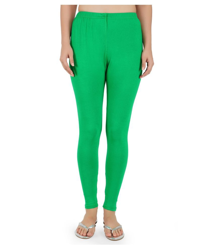 Girly Girls Cotton Jeggings - Green