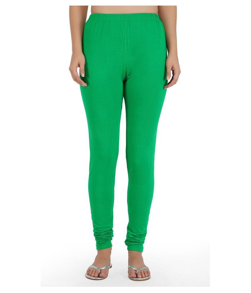 Girly Girls Cotton Jeggings - Green