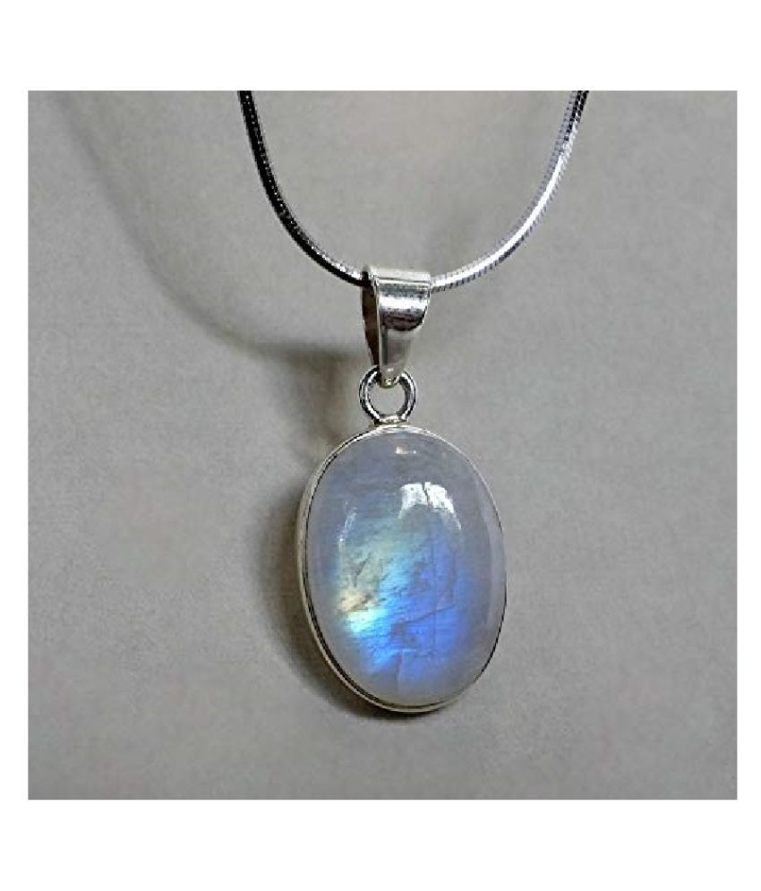 Natural Lab Certified 10 carat 100% Original MOONSTONE  Pendant for unisex by Kundli Gems\n