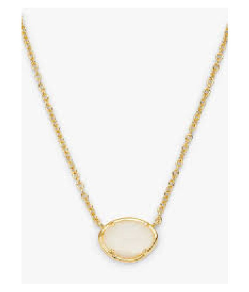 11.25 ratti Stone  Natural MOONSTONE  Gold Plated Pendant by  Kundli Gems\n