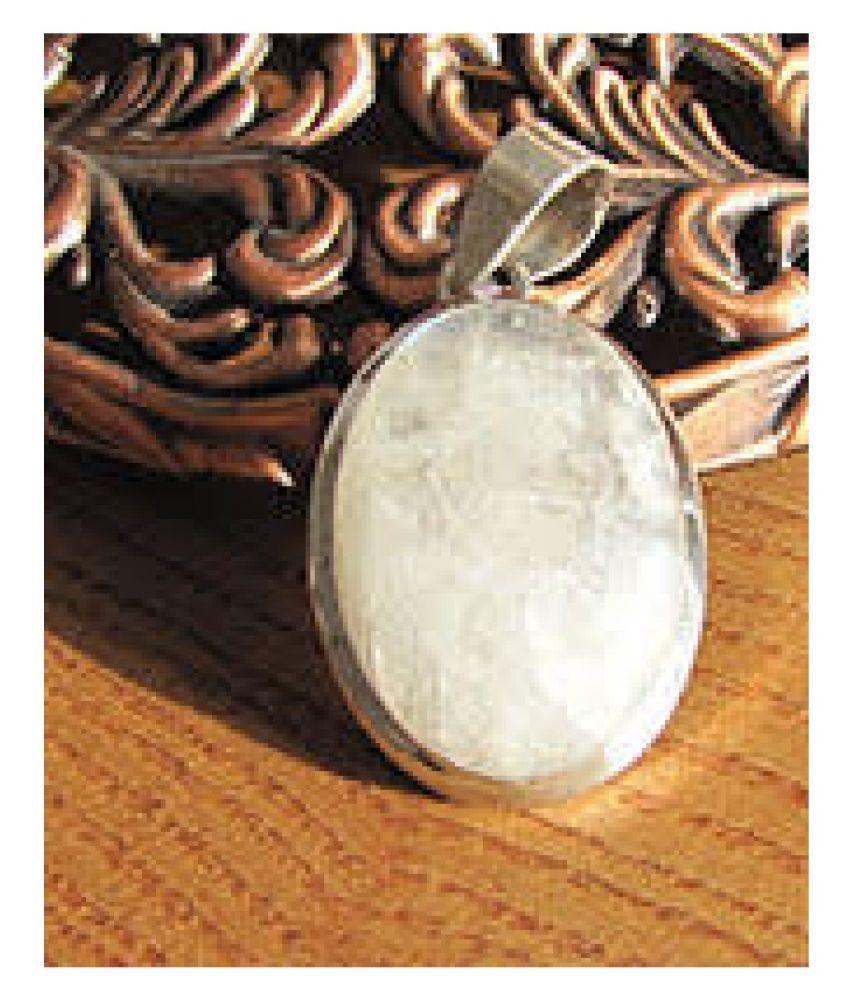 11.5 Ratti MOONSTONE  silver  Pendant for Unisex by Kundli Gems\n