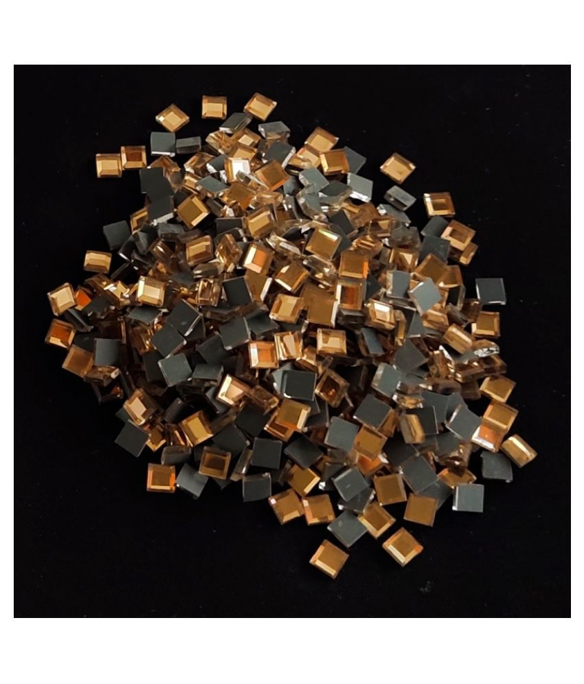 Bronze Square Pastable Stones for Jewelry Making, Crafts & Decorations. (330 Pieces, 5mm)