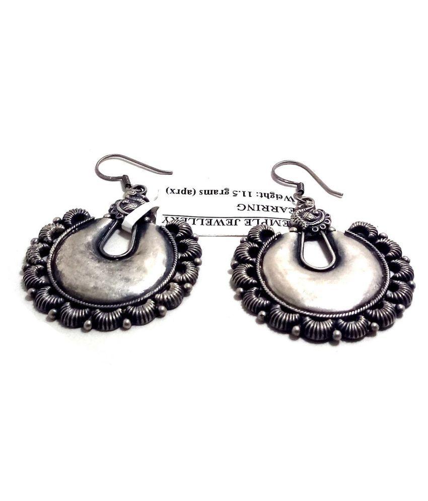 Pure Silver Stylish Fancy Party Wear Earrings For Women