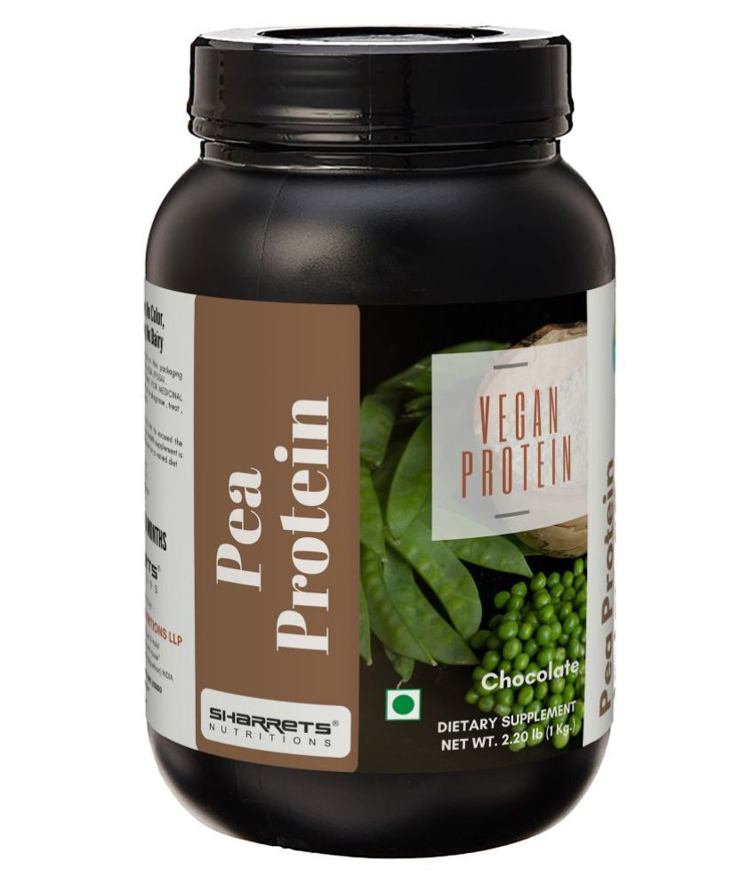SHARRETS NUTRITIONS Pea Protein Isolate Powder 80 1Kg Chocolate - Plant based Protein Powder, Vegan Soy Dairy Free for Men Women Elderly Boys Girls Body Building Athletes Energy Drink for All 2.202 lb