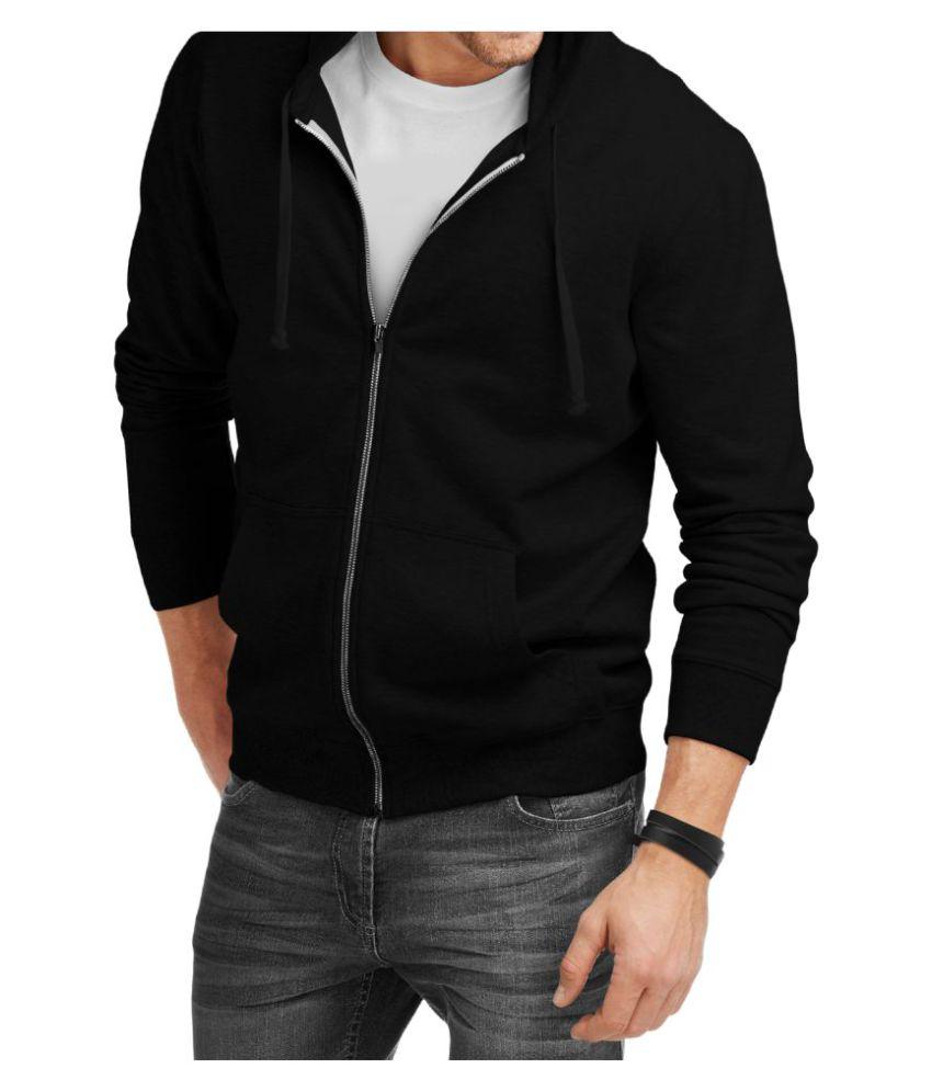 Teestra Black 100 Percent Cotton Fleece Jacket Single Pack