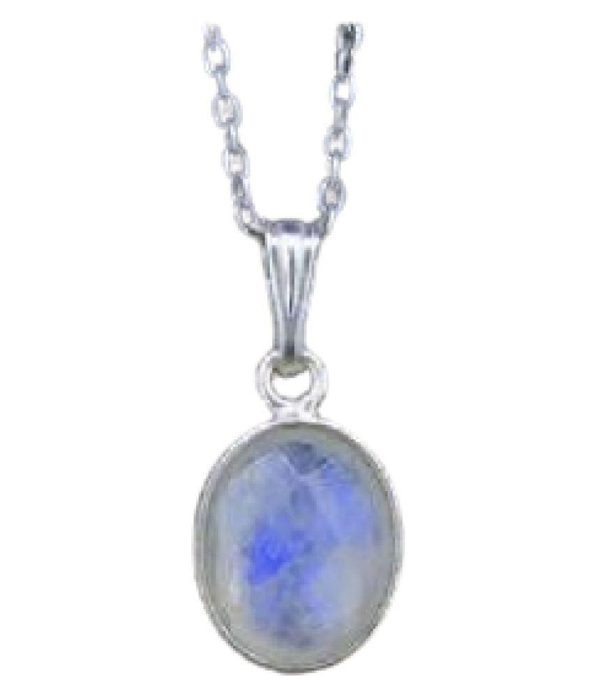Unheated & Untreated MOONSTONE  silver Pendant 100% Original & Certified Stone by  Ratan Bazaar