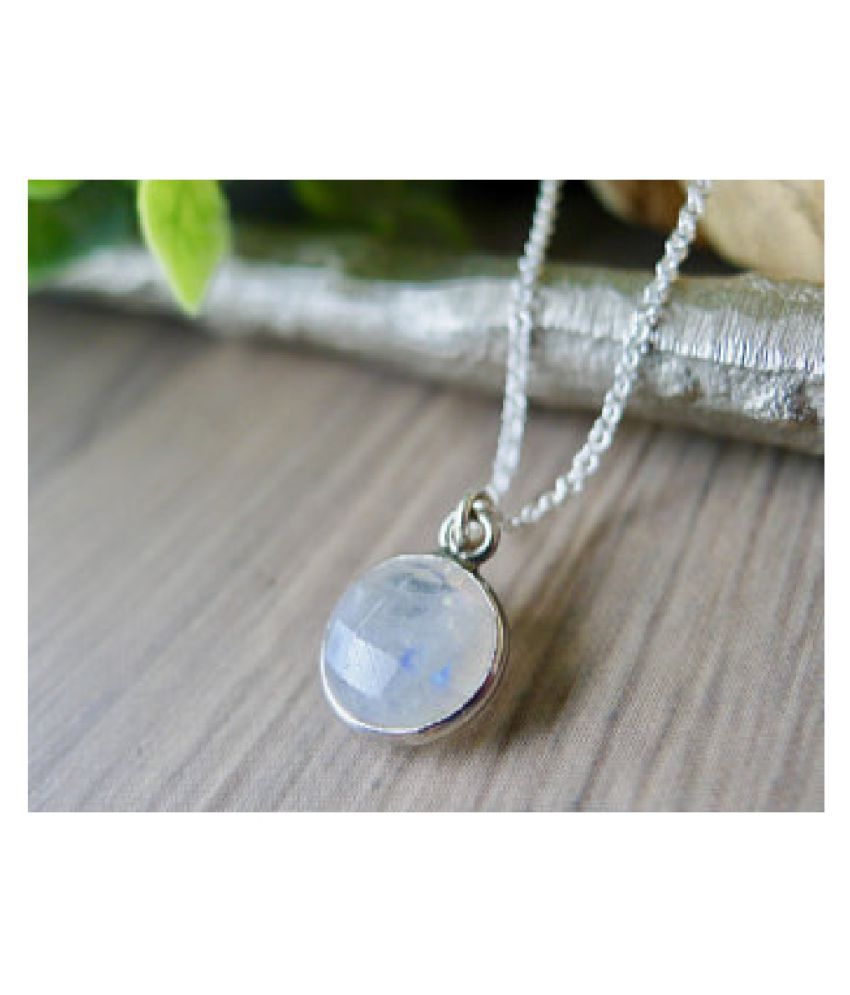 10.25 Ratti silver  Original MOONSTONE  Pendant Lab Certified Stone by  Ratan Bazaar\n