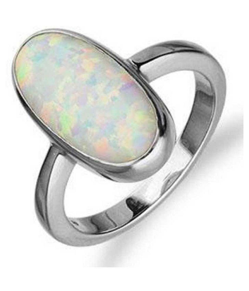 11.5 ratti Silver  OPAL  Ring for unisex by  Kundli Gems\n