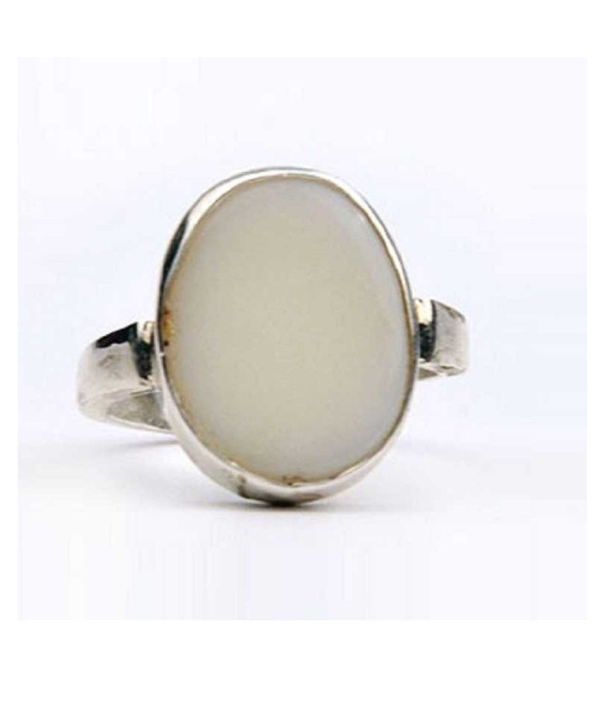 12 Ratti OPAL  Ring Natural  Silver Stone Ring by Kundli Gems