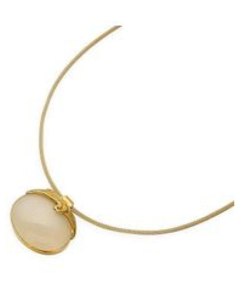 6.25 Ratti MOONSTONE gold plated Pendant With Certified Astrological Stone by  Ratan Bazaar