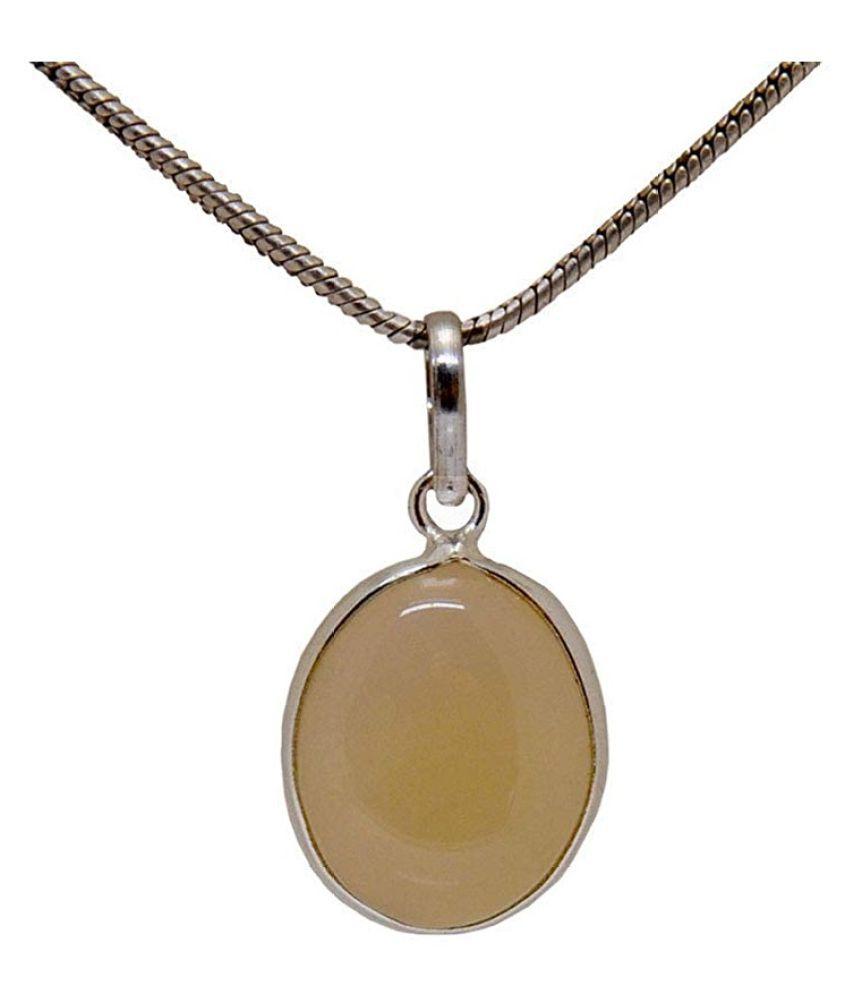 7 Carat 100 % Original Certified Stone MOONSTONE gold plated Pendant By  Ratan Bazaar