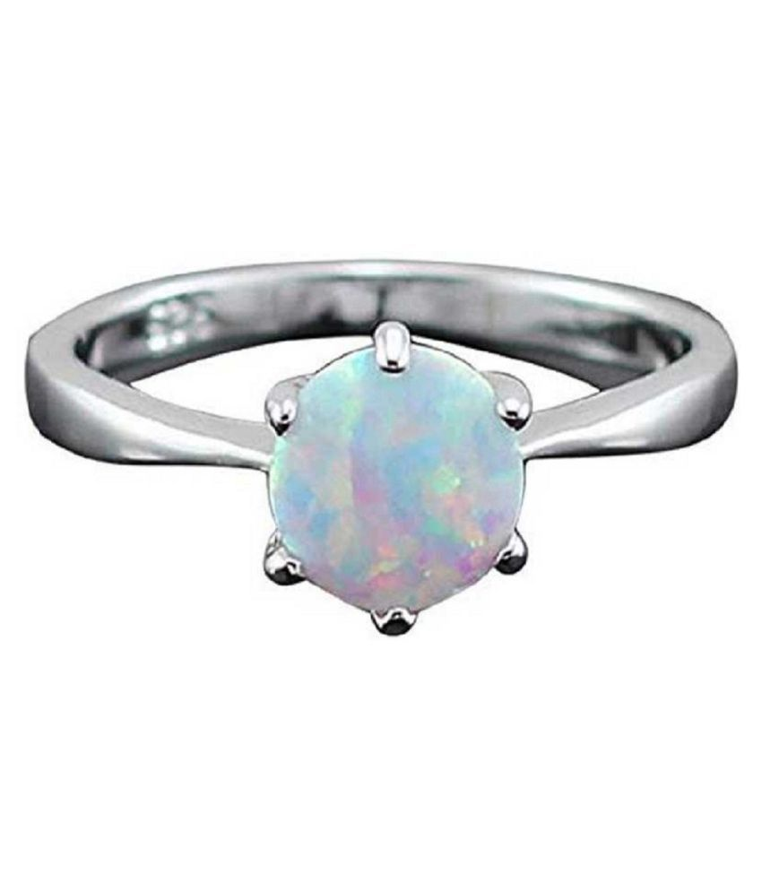 OPAL  original & lab certified 11.25 ratti silver Ring for astrological purpose by Kundli Gems\n