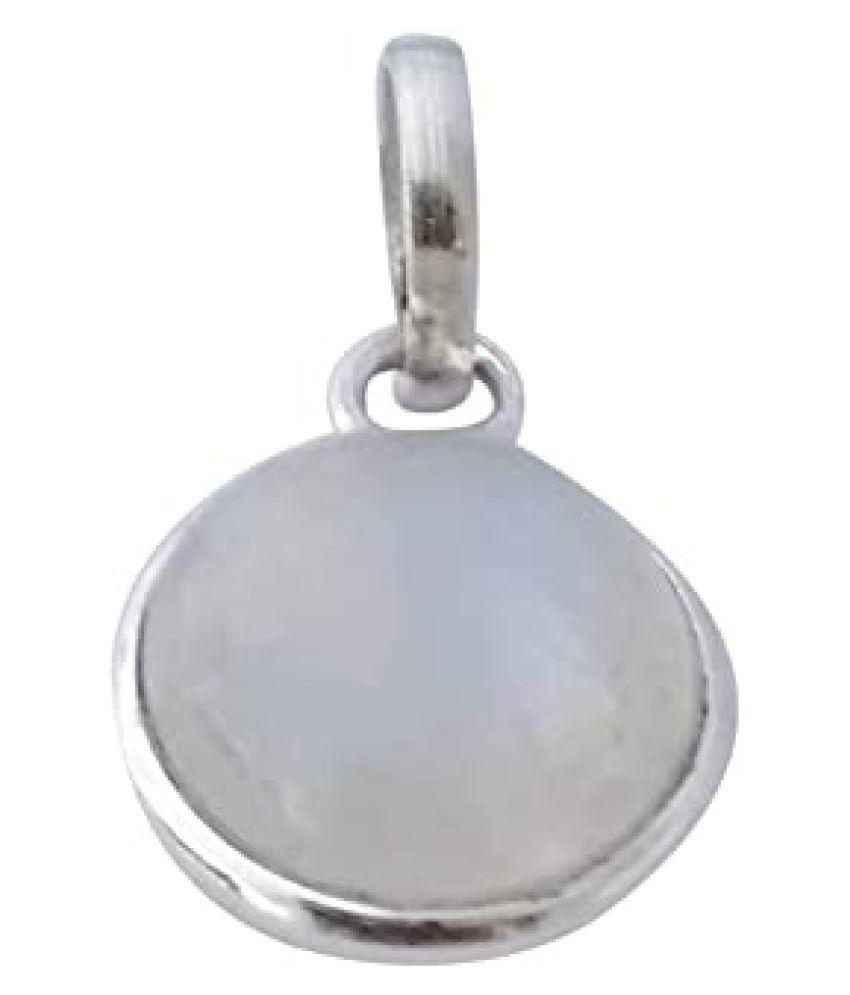 12.25 Ratti  Silver MOONSTONE  Stone Pendant by   Ratan Bazaar