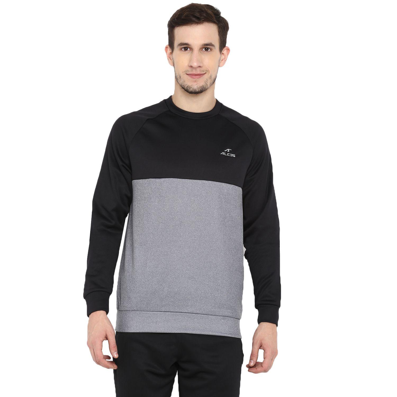 Alcis Black Polyester Sweatshirt Single Pack