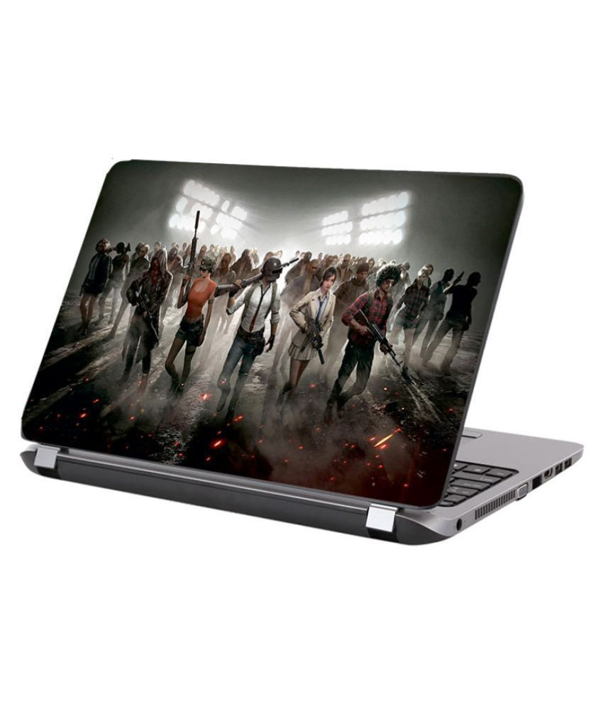 Laptop Skin PUBG team Premium matte finish vinyl HD printed Easy to Install Laptop Skin/Sticker/Vinyl/Cover for all size laptops upto 15.6 inch