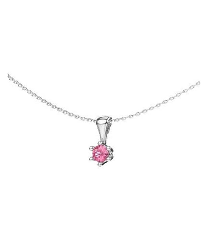 5.25 ratti stone pure Pink Sapphire  Silver Pendant for unisex by  Kundli Gems\n