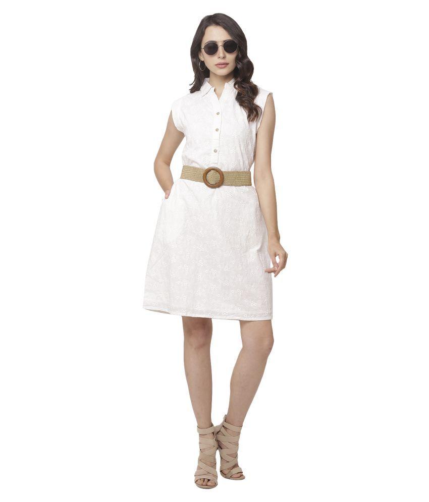 Globus Cotton Beige A- line Dress