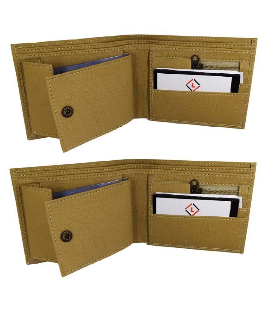 LYREM PU Beige Fashion Regular Wallet