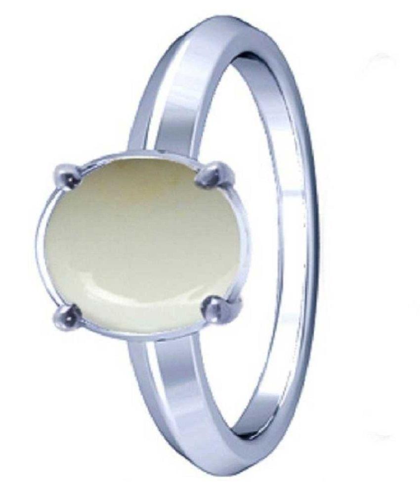 11.25 ratti silver  OPAL  Ring for unisex by Ratan Bazaar\n