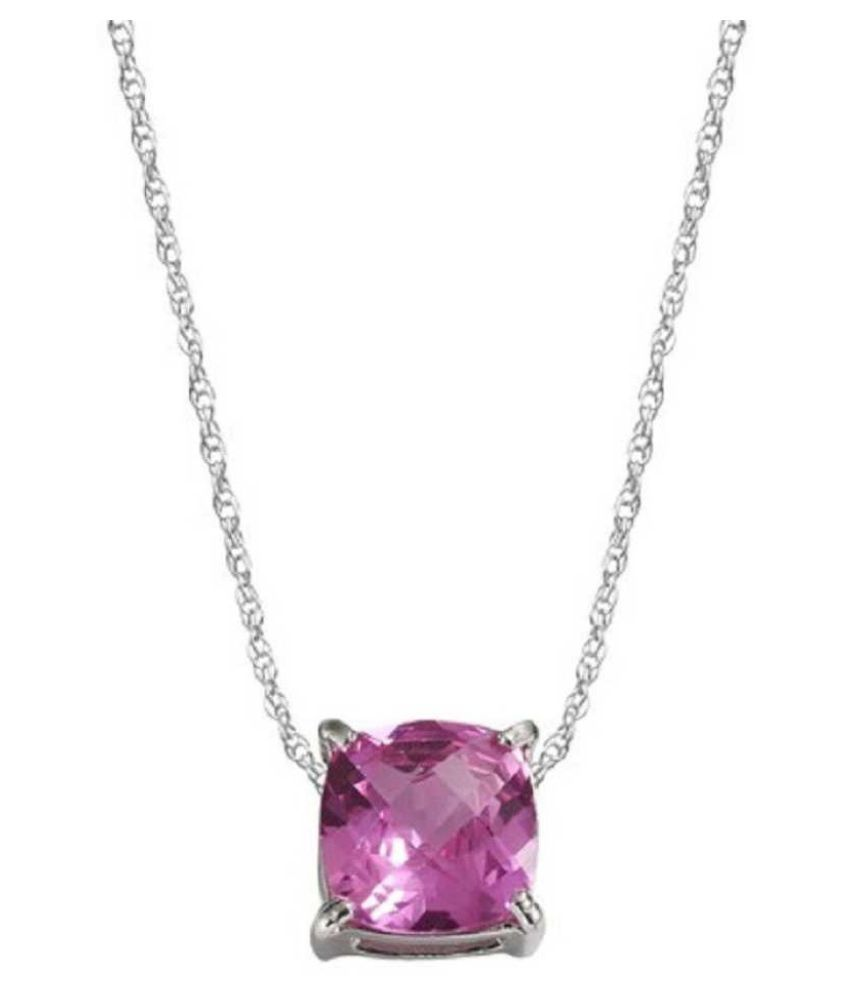 7.5 Carat Natural Stone silver Pink Sapphire  Pendant for unisex by Kundli Gems\n