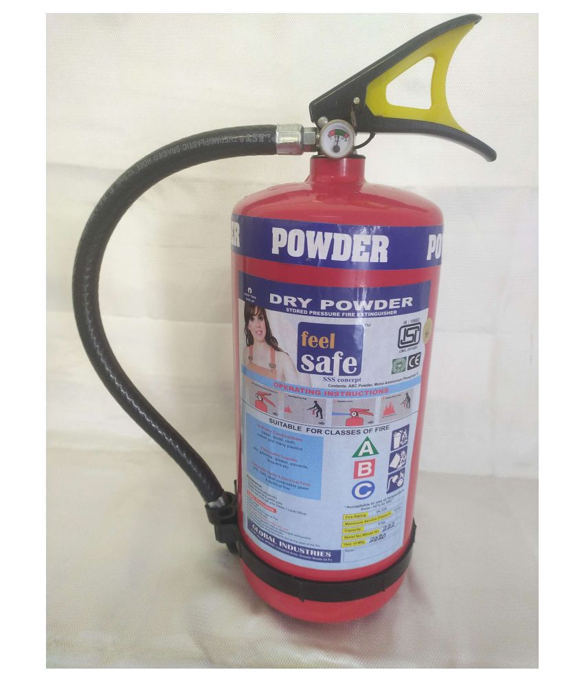 Feel Safe Fire Extinguisher - ABC Type - 4 Kg Fire Extinguishers
