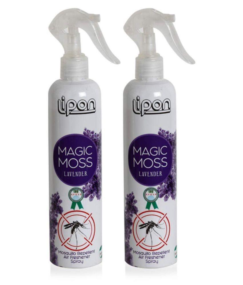 LIPON  Magic Moss Herbal Mosquito Repellent & Air Freshener Spray 300 ml Pack of 2 (LAVENDER)