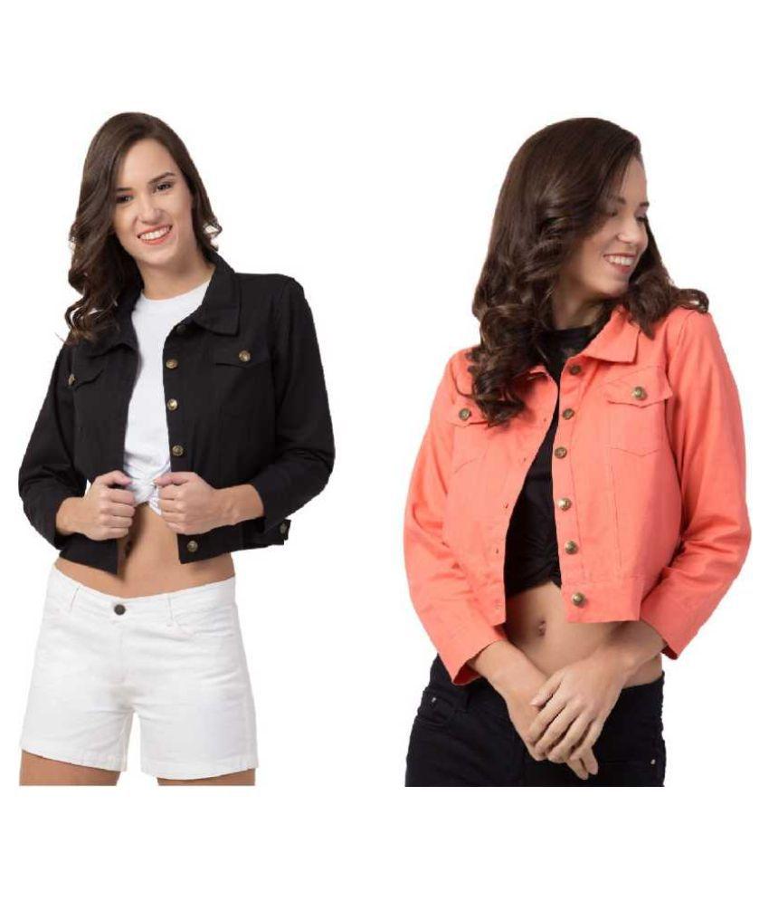 Dress Universal Cotton Orange Jackets