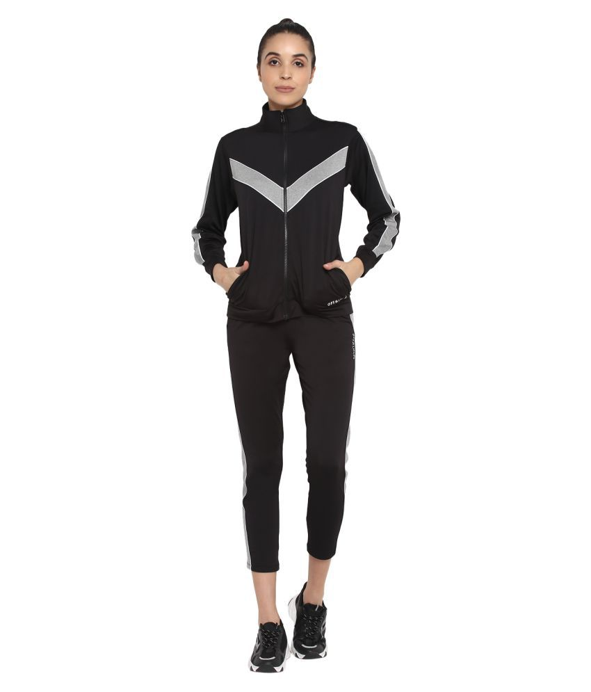 OFF LIMITS Black Polyester Color Blocking Tracksuit