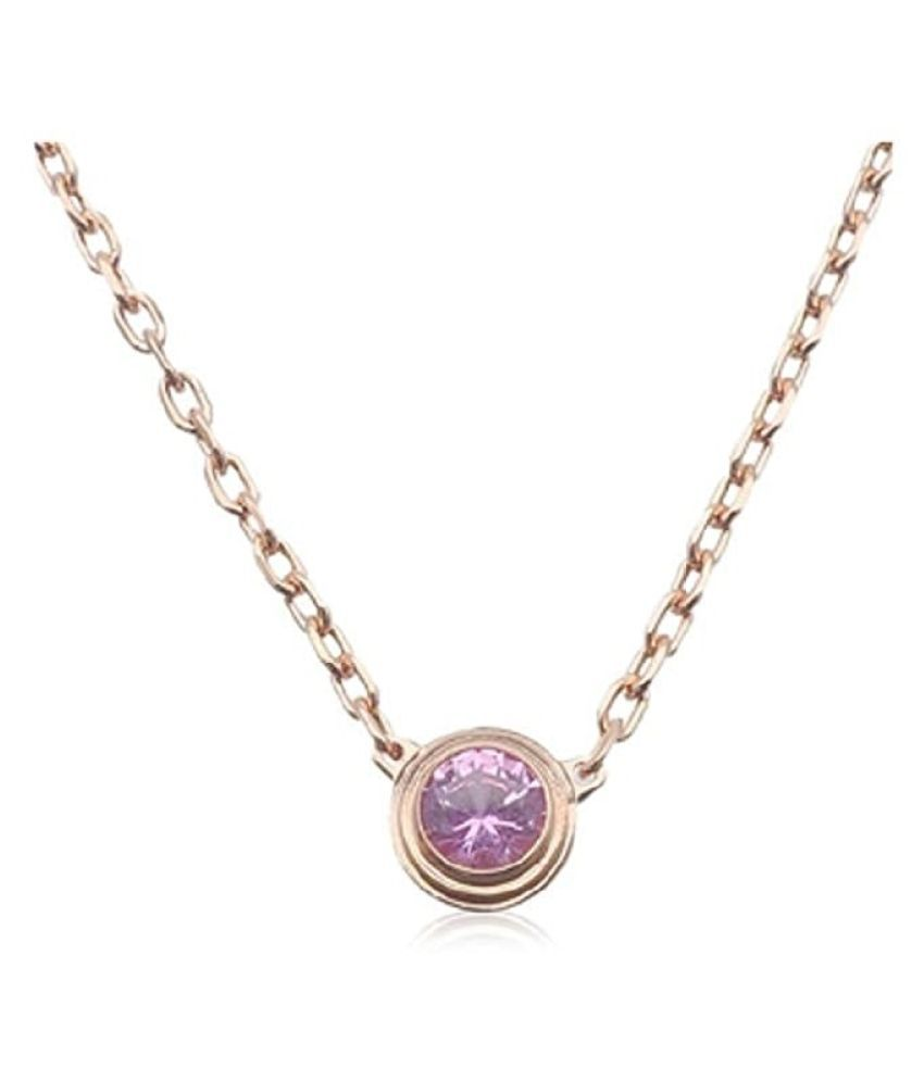 9 carat Natural Silver Pink Sapphire  Pendant by   Ratan Bazaar\n