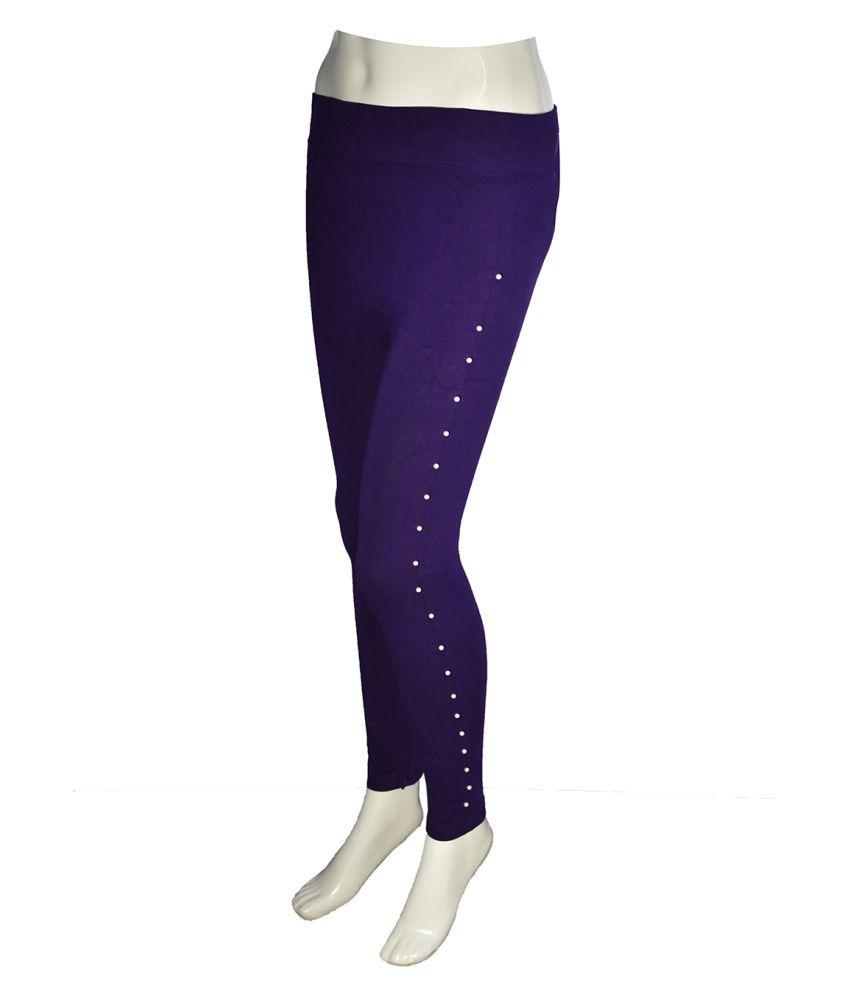 Elysianmart Polyester Jeggings - Purple