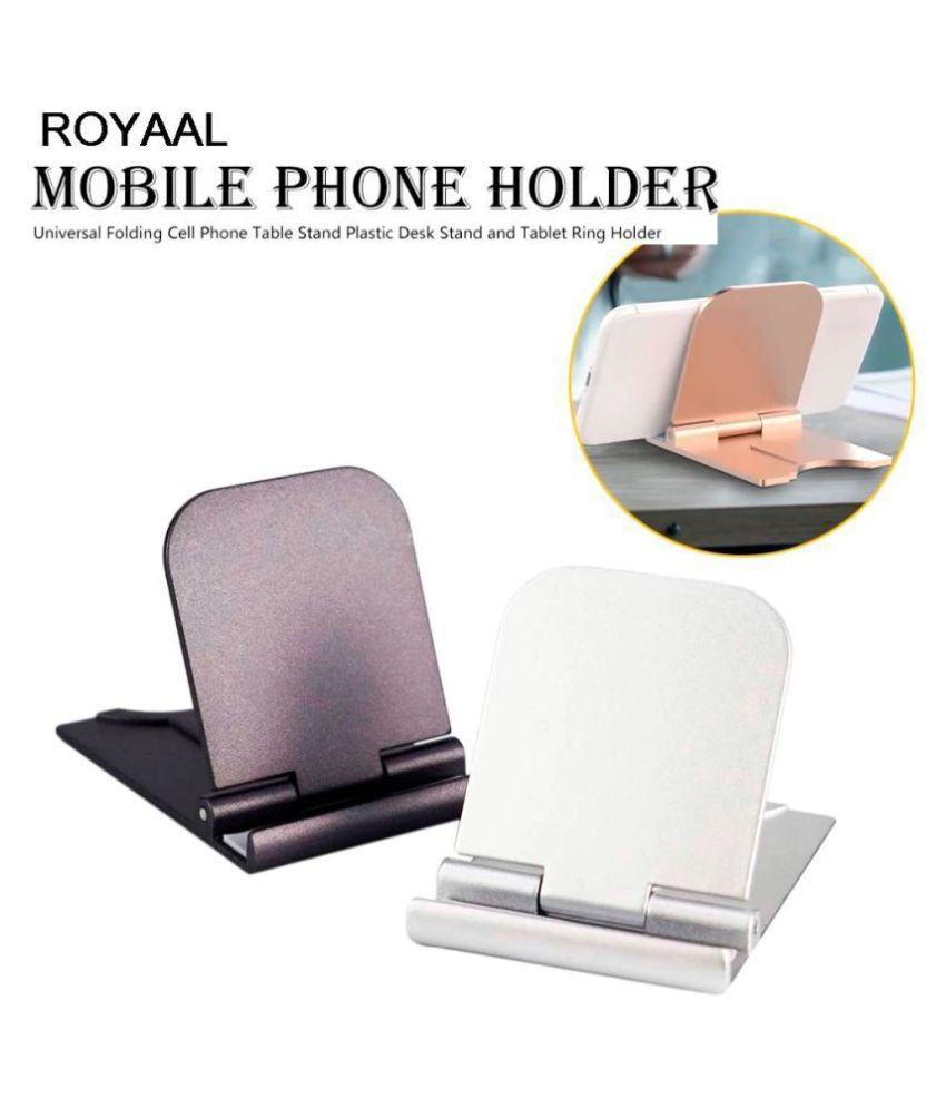 ROYAAL Universal Folding Cell Phone Table Stand Plastic Desk Stand Mobile Phone Holder Phone and Tablet Ring Holder for SMARTPHONES
