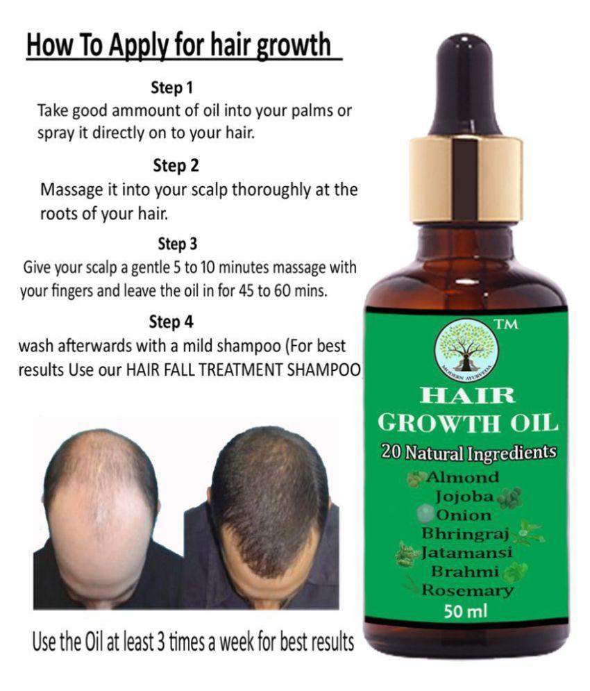 MODERN AYURVEDA Anti Hair Fall - Hair Growth Oil - 20 Herbs 50 mL Tube Glass Container