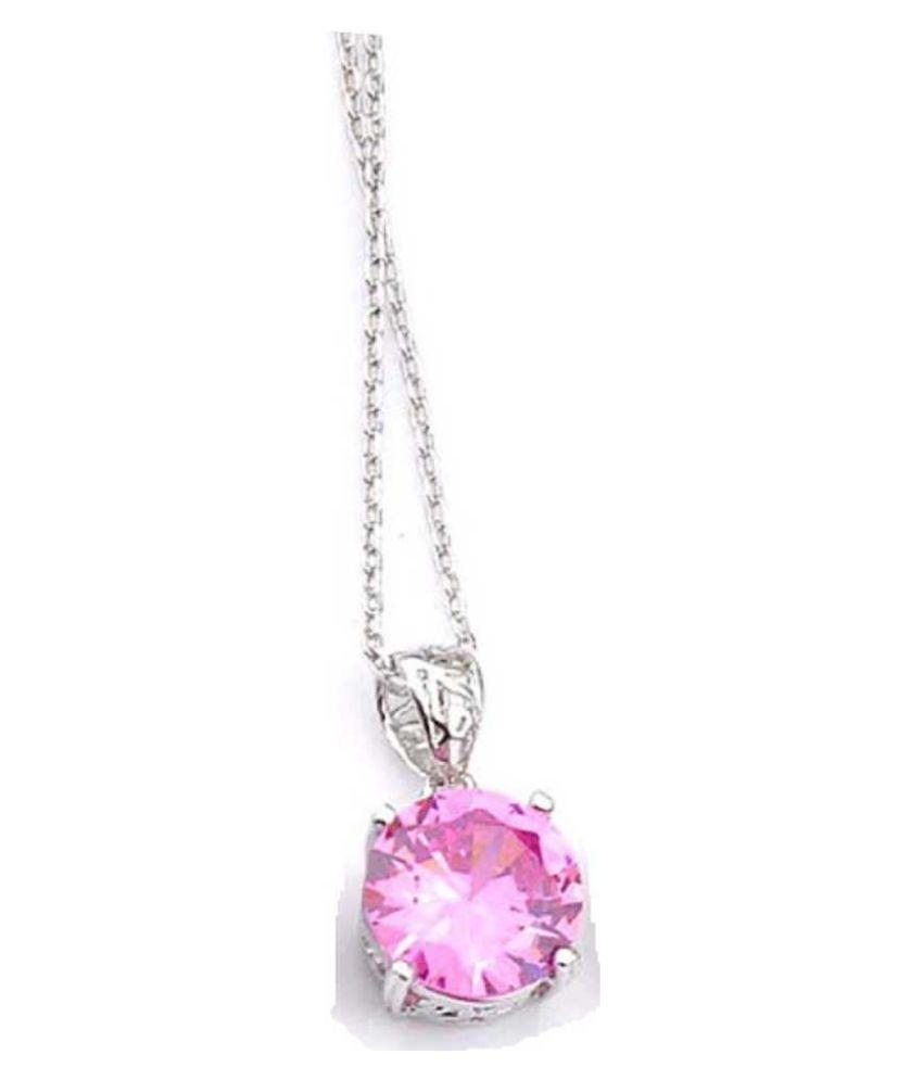 Natural Pink Sapphire  10.5 Carat   silver Pendant  by  Ratan Bazaar\n